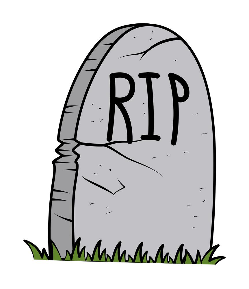 Rip - Grave Cartoon - Halloween Vector Illustration