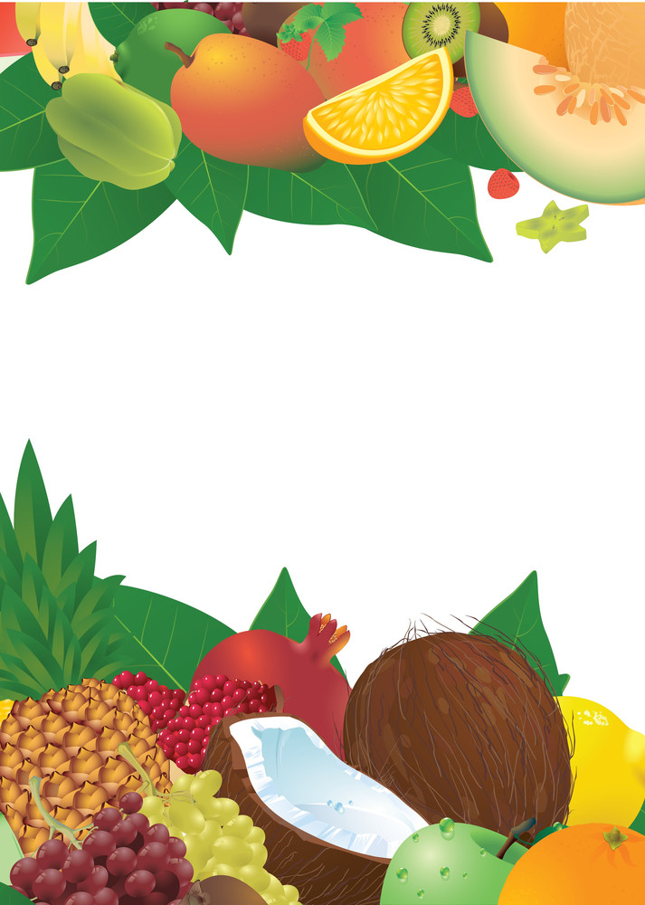 Ripe Fruits. Vector Template.
