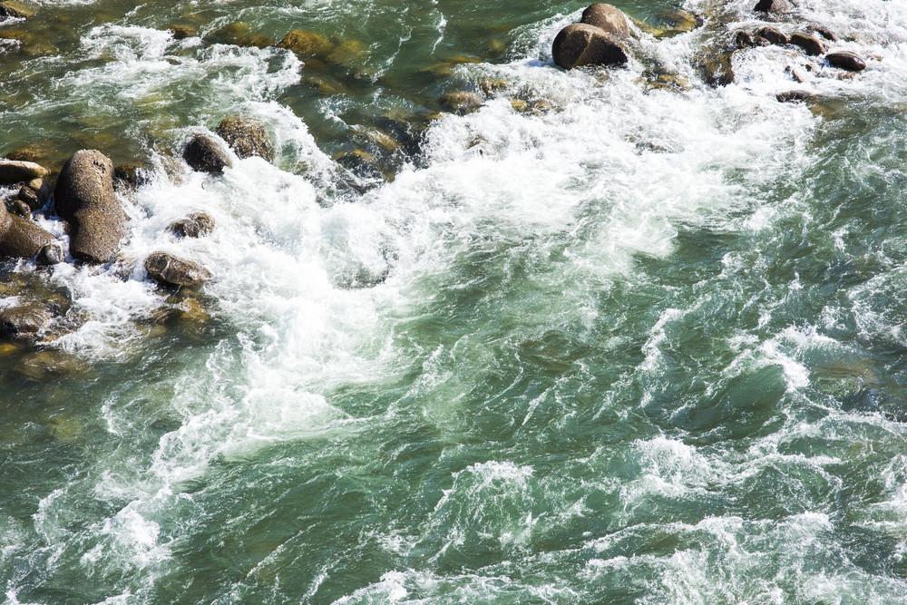 River front of shirakawa-go Japan
