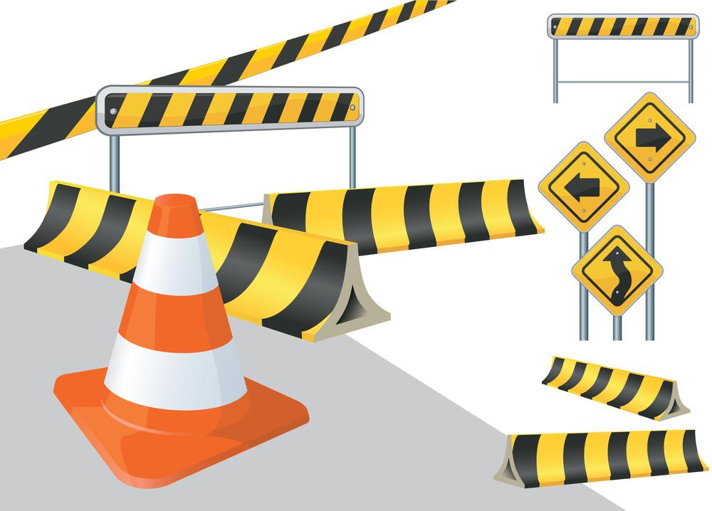 Road Construction Vector Signs