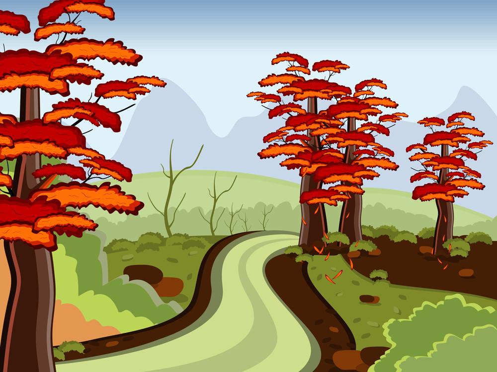 Road In Autumn Season