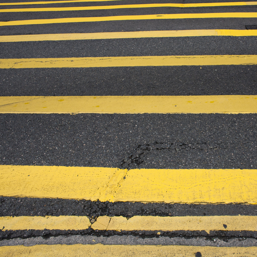 Road Marking - Many Yellow Lines