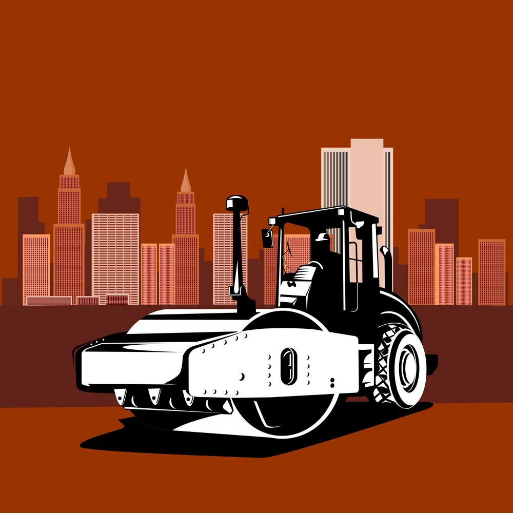 Road Roller Retro