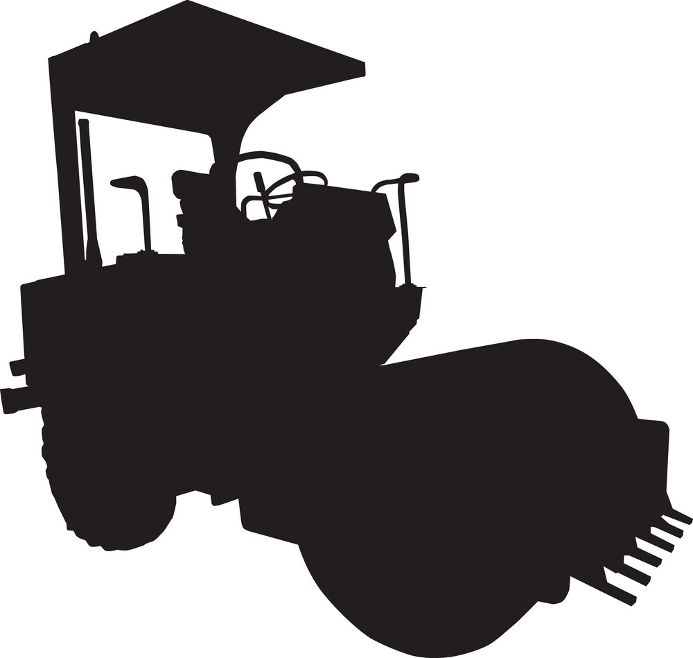 Road Roller Silhouette