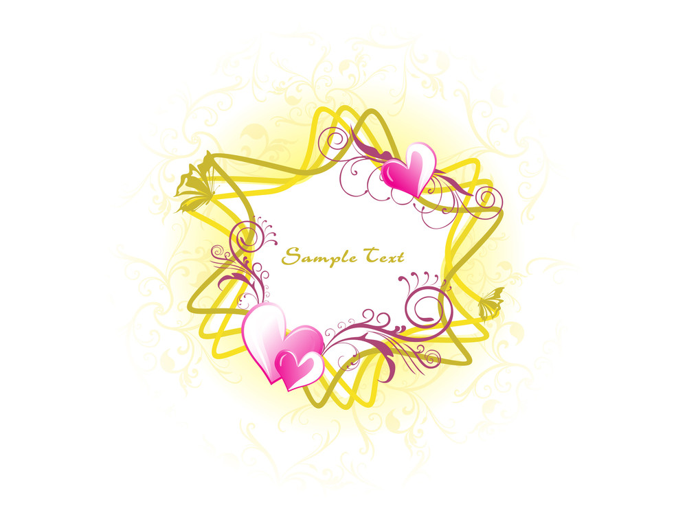 Roamntic Floral Frame