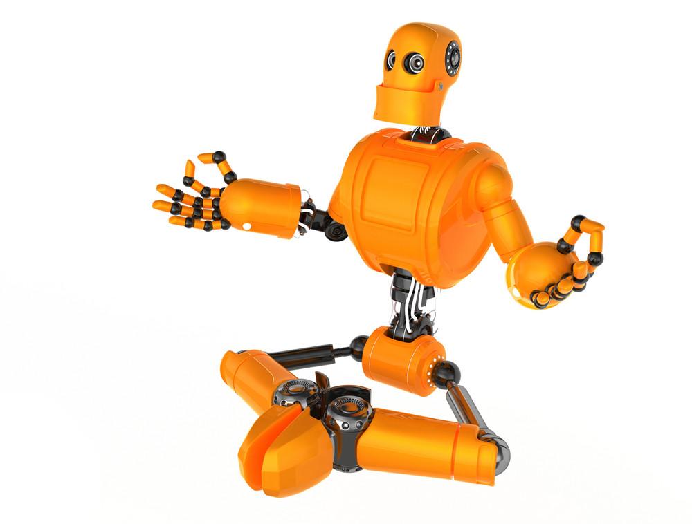 Robot Meditating