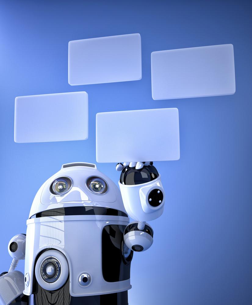 Robot Pressing Virtual Buttons