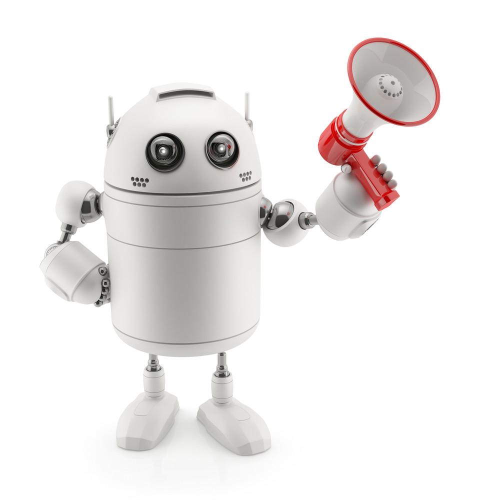 Robot With Megaphone