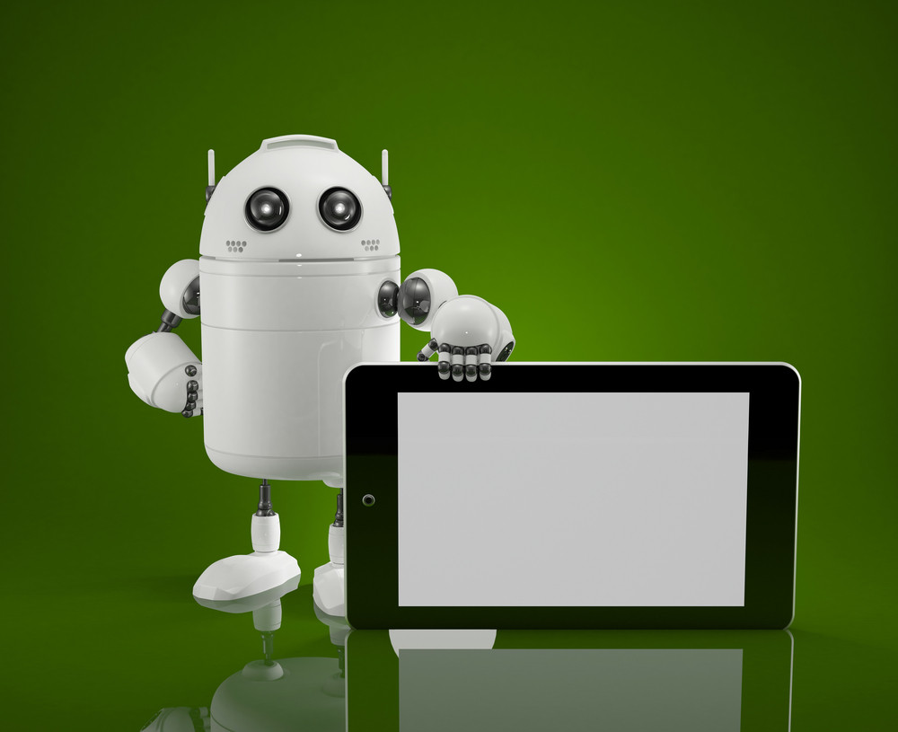 Robot With Tablet Computer