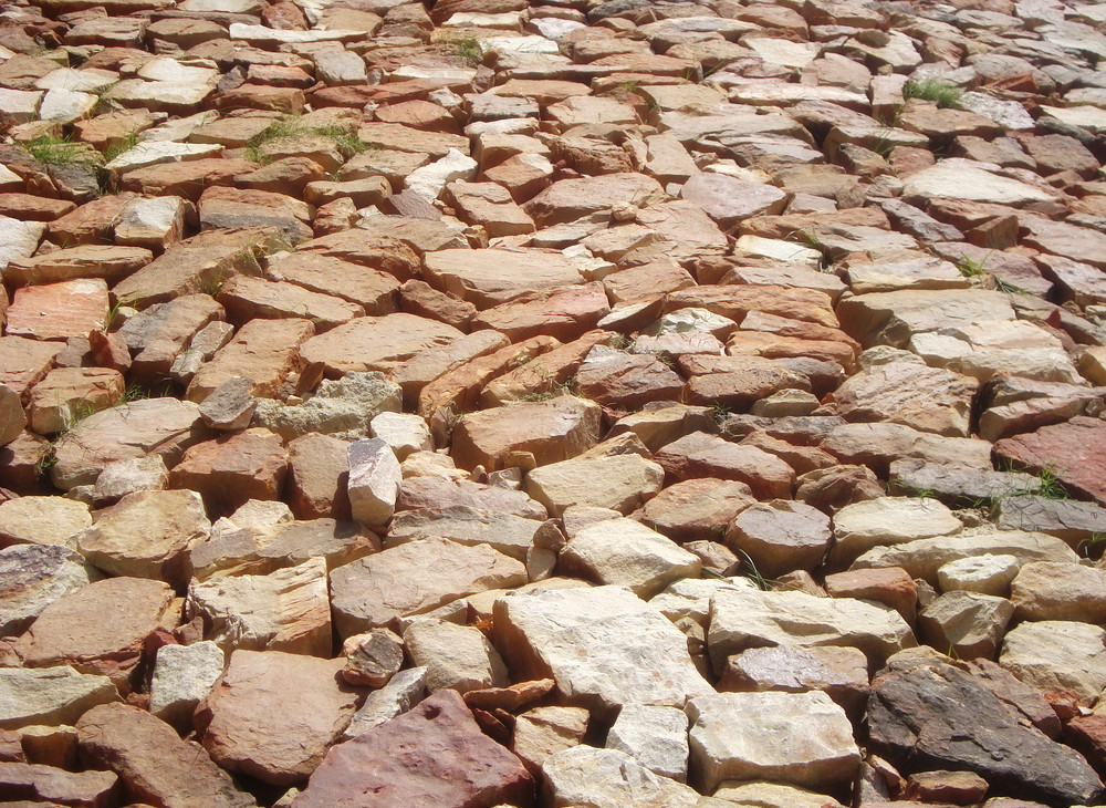 Rock Bricks Floor