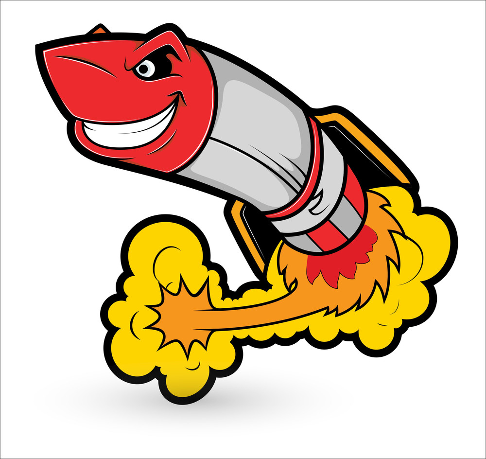 rocket cartoon mascot vector royaltyfree stock image