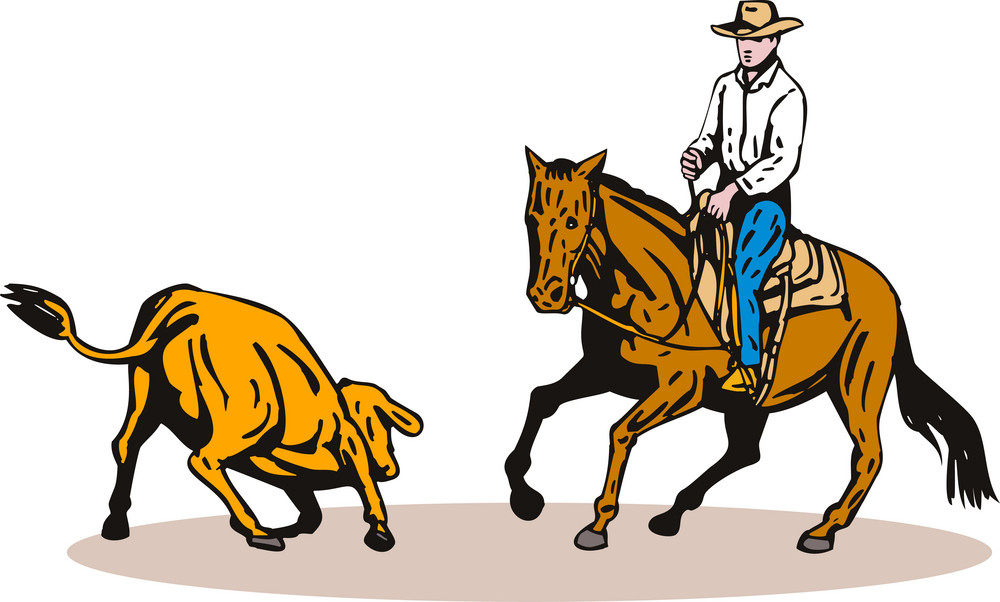 Rodeo Cowboy Horse Riding