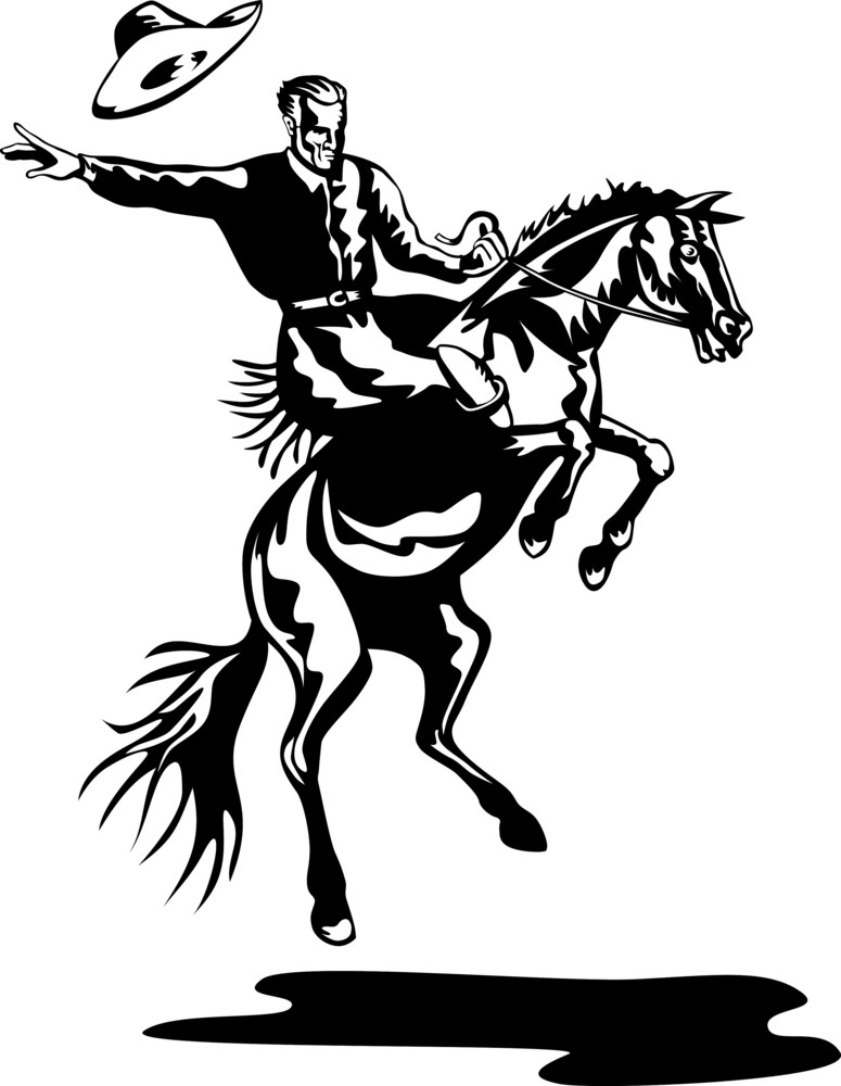 Rodeo Cowboy Riding Horse Royalty Free Stock Image Storyblocks Images