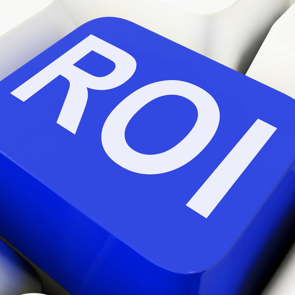 Roi Key Shows Return On Investment Or Finance