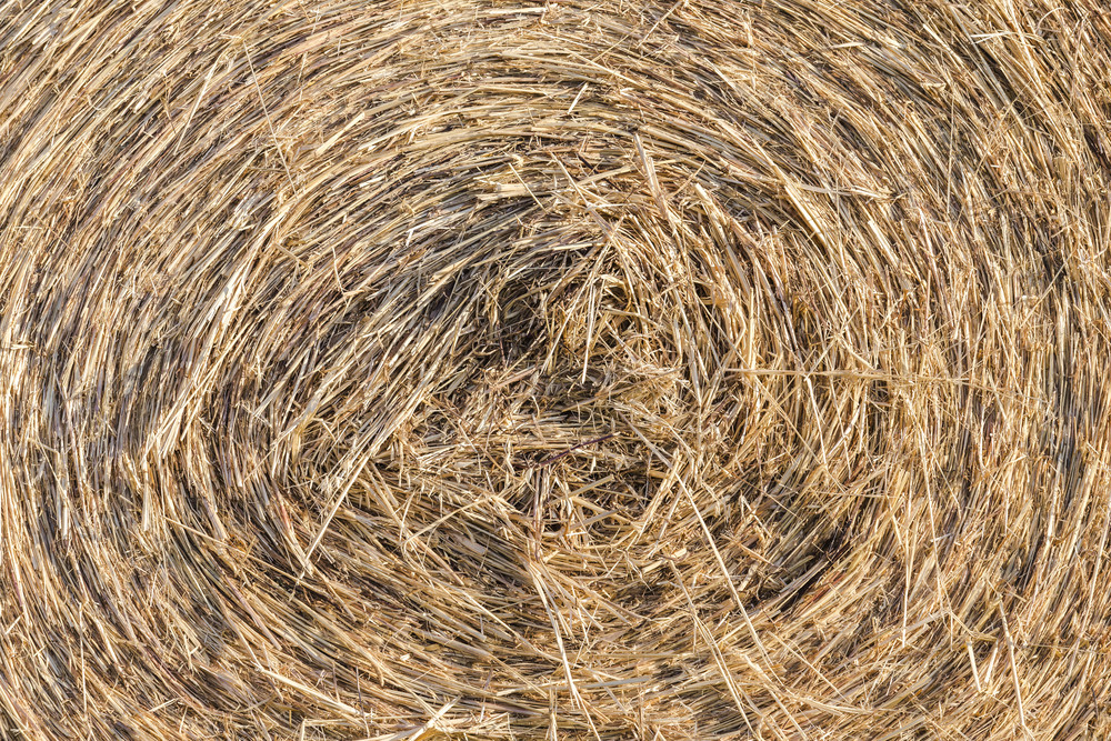 Roll straw texture and background