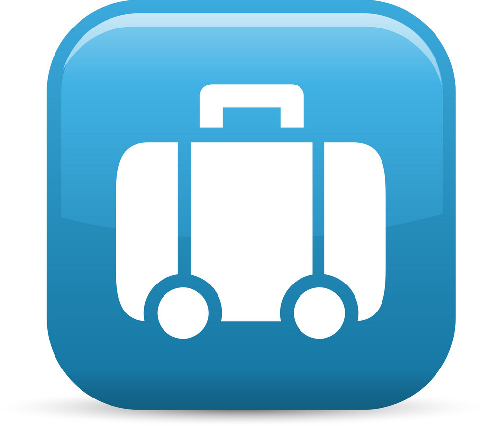Rolling Luggage Elements Glossy Icon