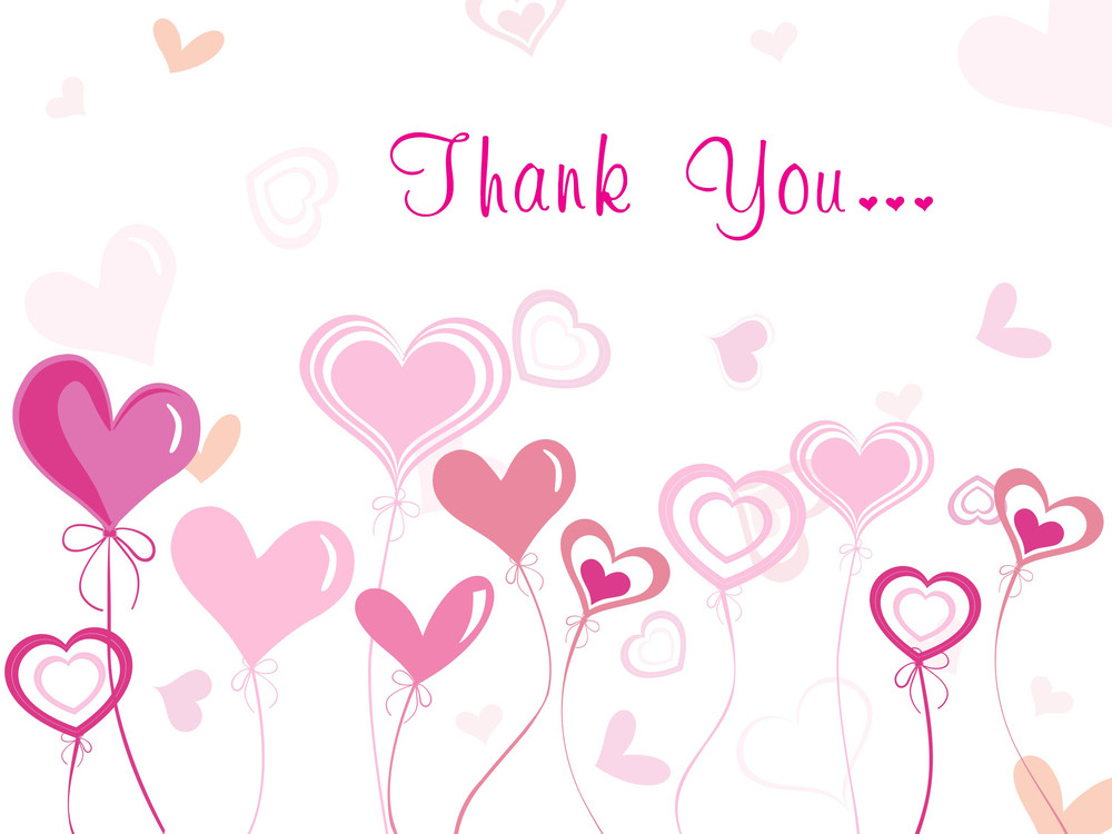 Romantic Background For Thank You