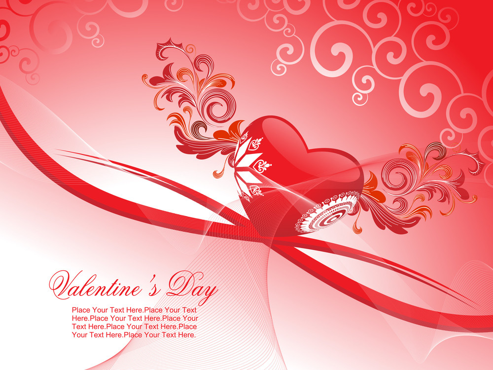 Romantic Background For Valentine Day