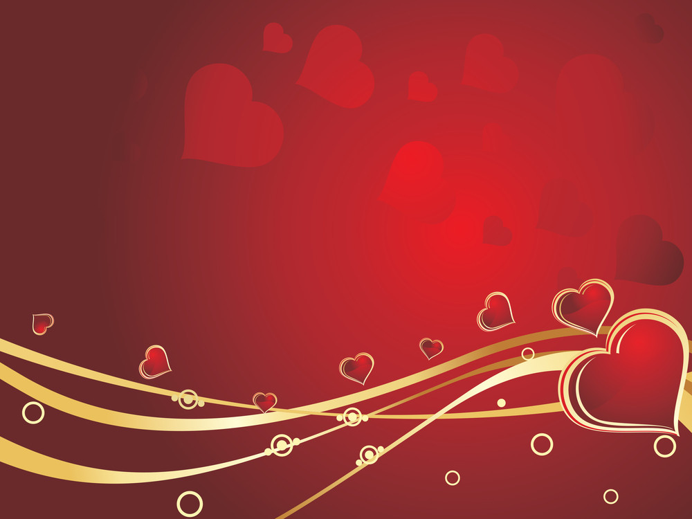 Romantic Background Illustration