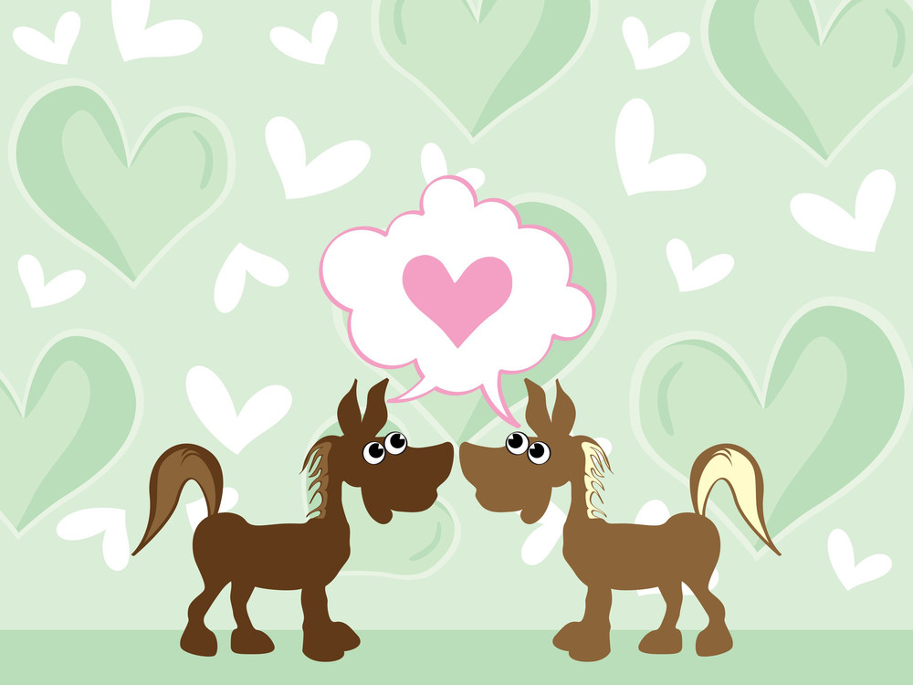 Romantic Background With Couple Animal
