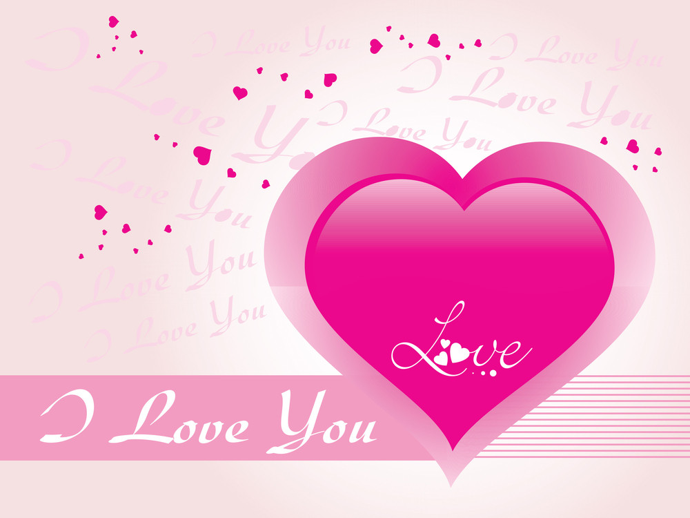 Romantic Background With Pink Heart