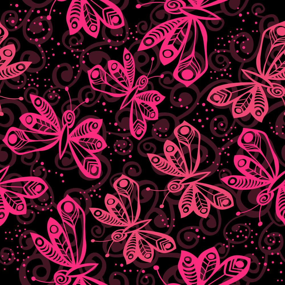 Romantic Butterfly Seamless Pattern.
