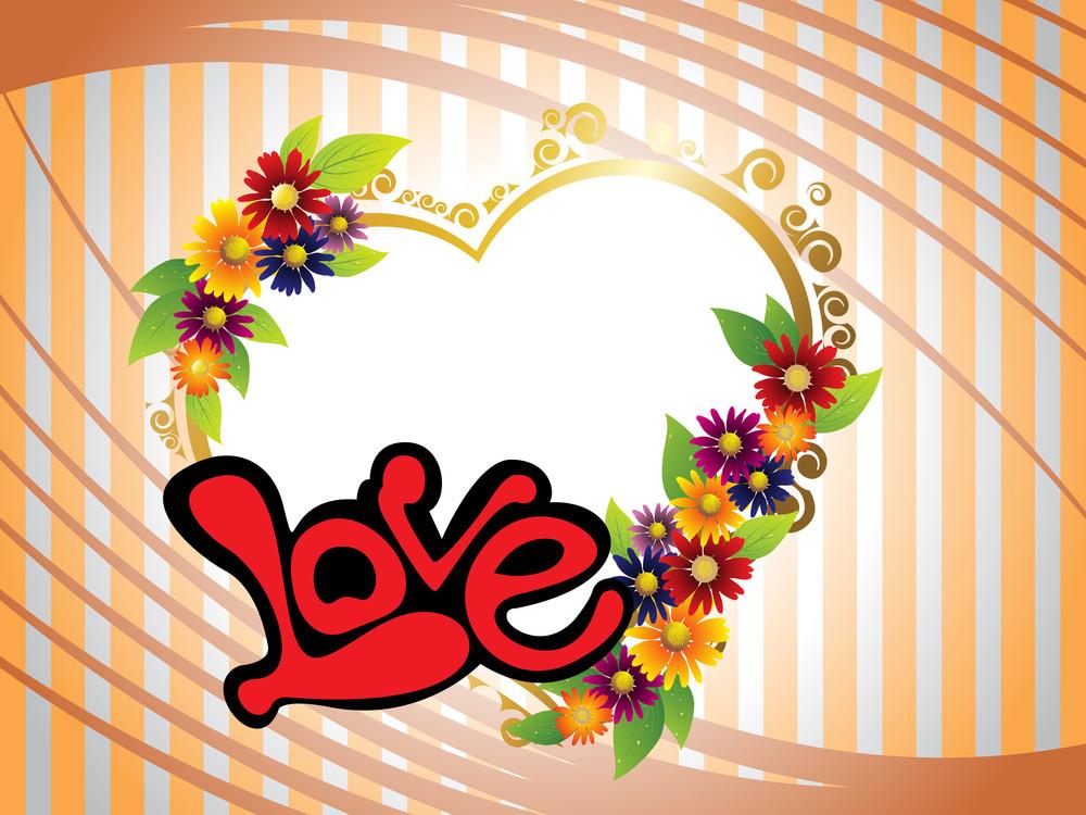 Romantic Colorful Blossom Love Frame