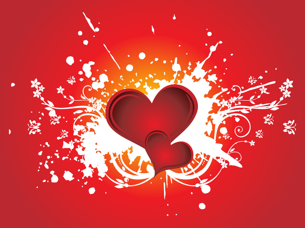 Romantic Floral Vector Wallpaper