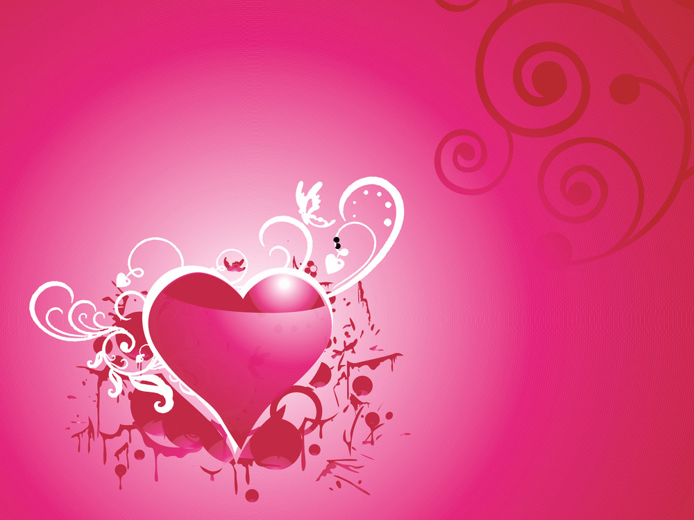 Romantic Grungy Heart Vector Wallpaper