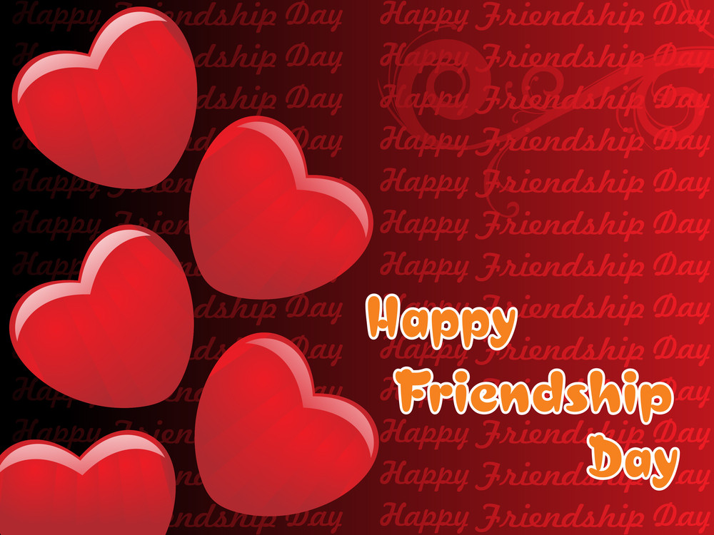 Romantic Happy Friendship Day Background