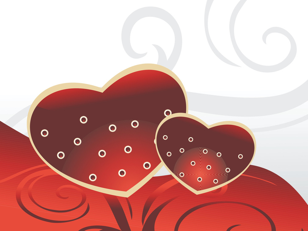 Romantic Heart With Artwork Background