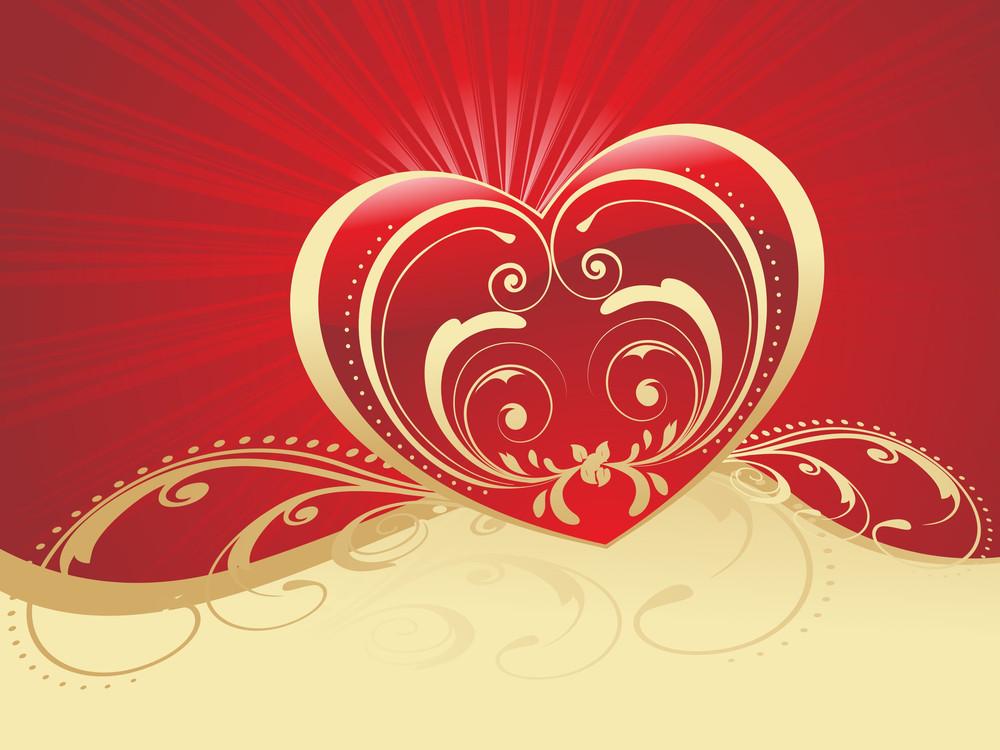 Romantic Heartshape With Artistic Design