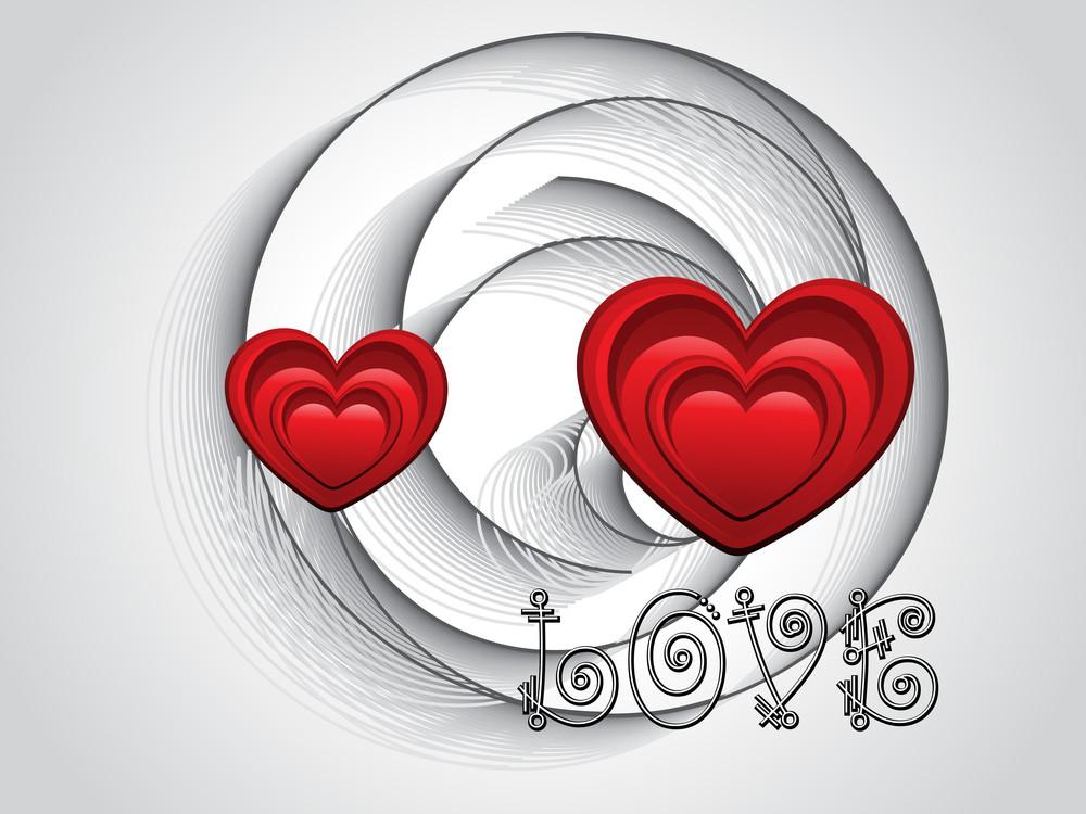 Romantic Illustration For Valentine Day