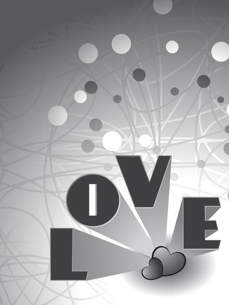 Romantic Love Background Illustration