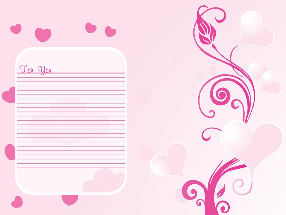 Romantic Pink Floral Design Background