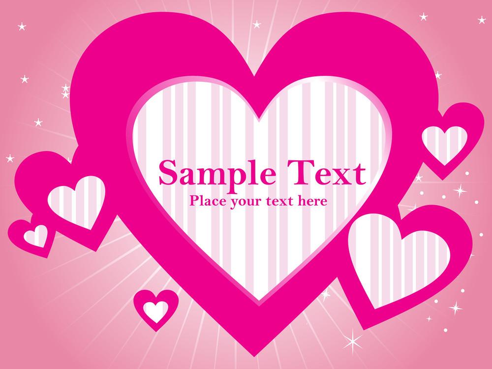 Romantic Pink Love Illustration