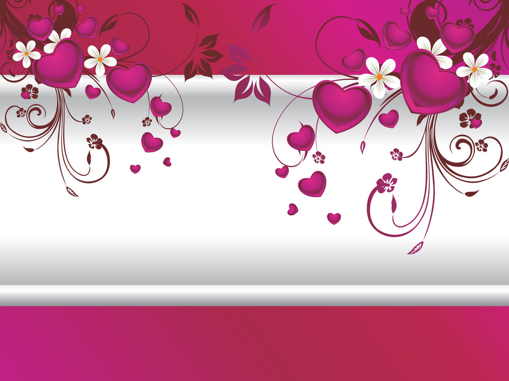 Romantic Purple Background With Floral