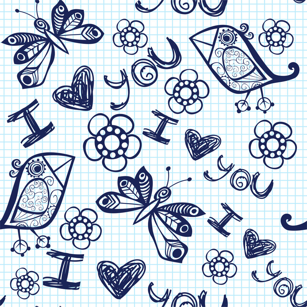 Romantic Seamless Pattern. V