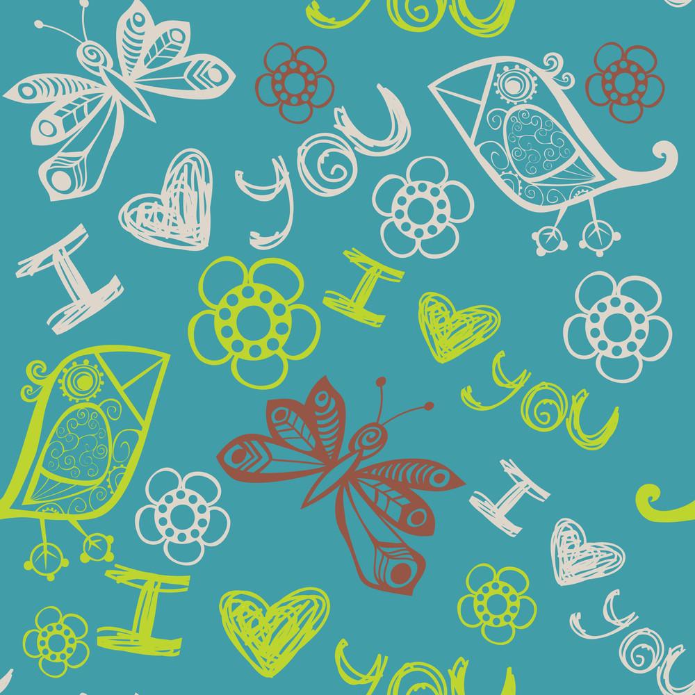 Romantic Seamless Pattern