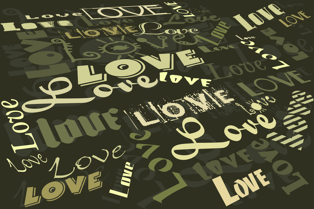 Romantic Text On Background