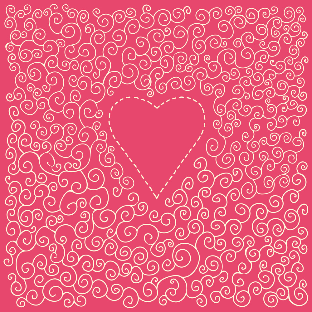 Romantic Valentine Card With Heart
