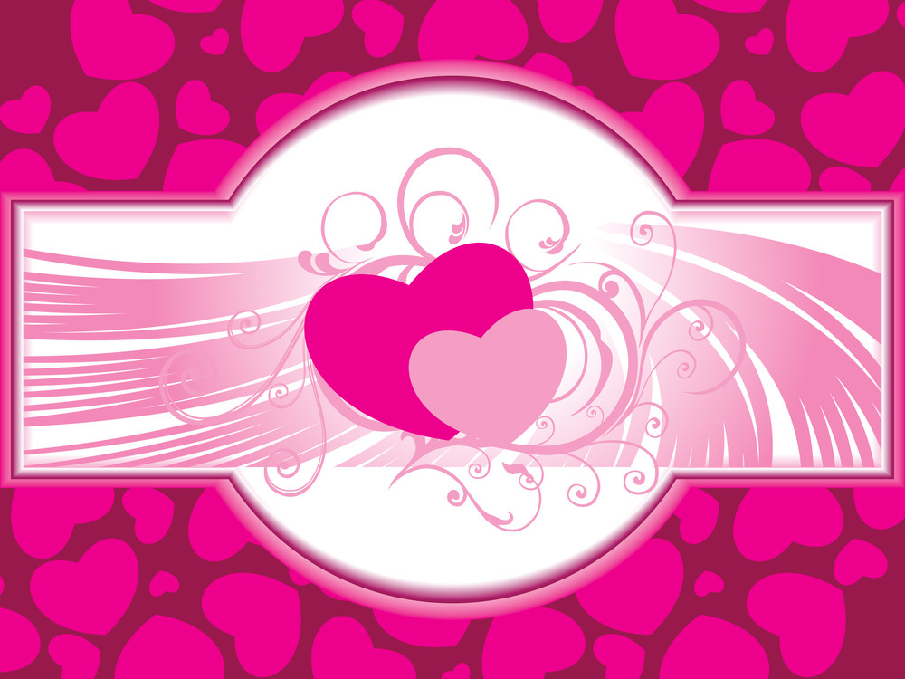 Romantic Wallpaper For Valentine Day Royalty-Free Stock Image ...