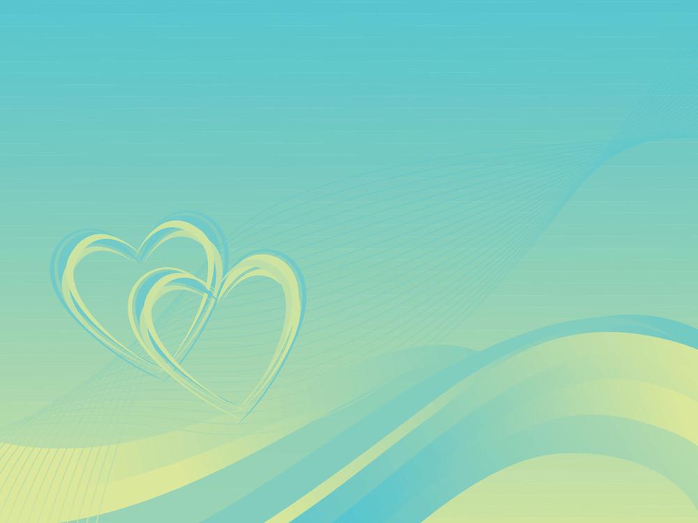 Romantic Wavy Vector Banner