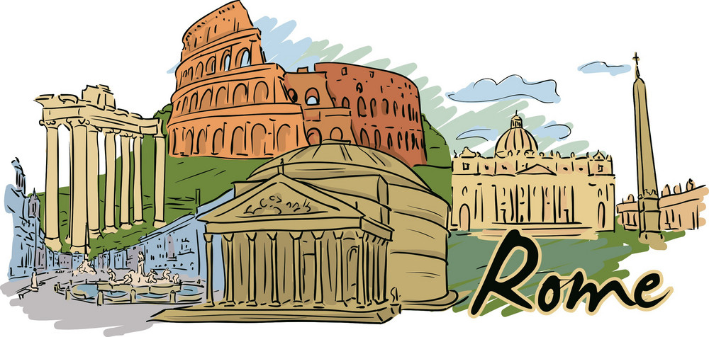 Rome Vector Doodle