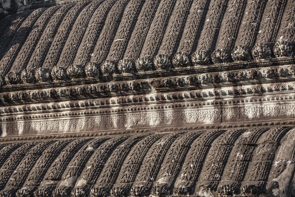 Roof Angkor Wat inside detail. Cambodia