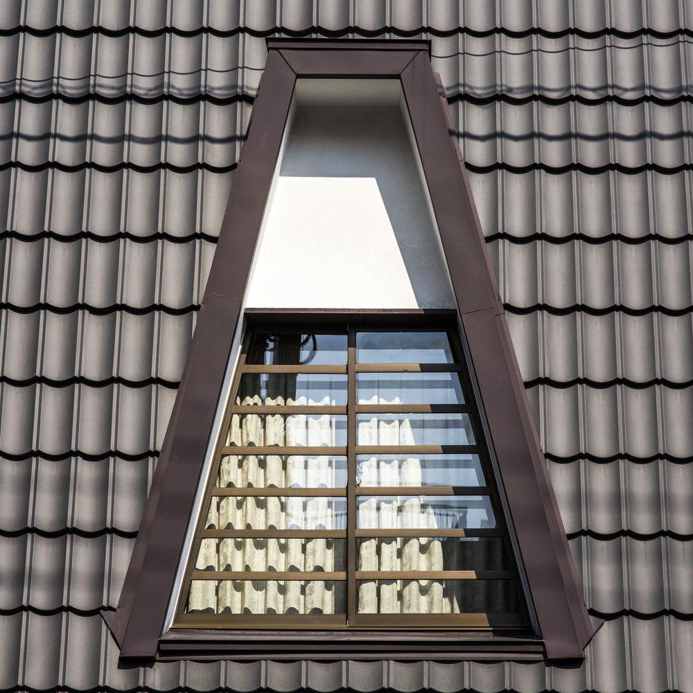 Roof window exterior building closeup