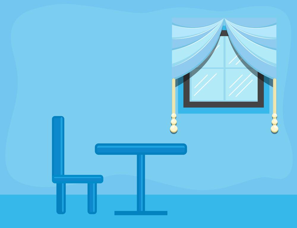 Room - Cartoon Background Vector
