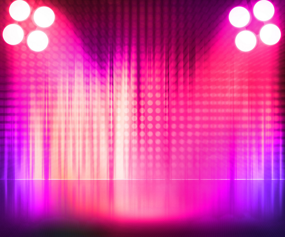 Room Spotlights Stage Background