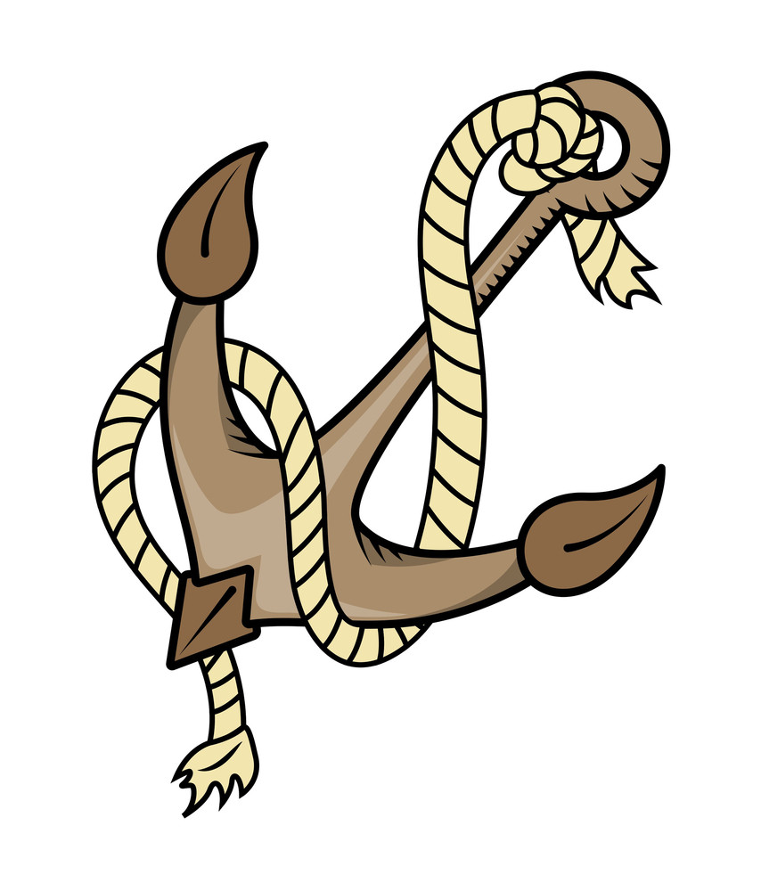 Rope And Anchor Vector Illustration