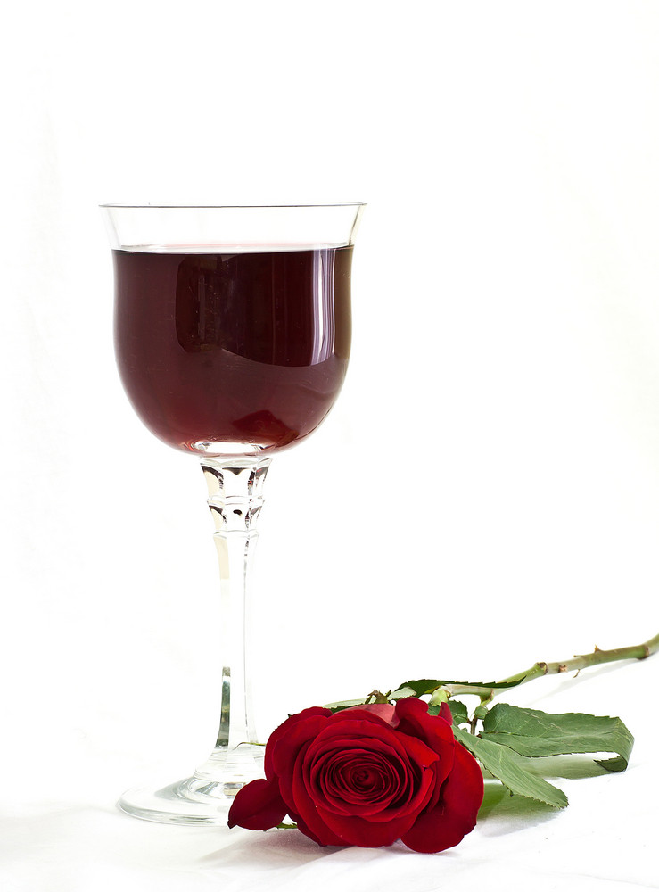 Rose With Wine Glass